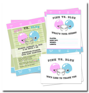 gender reveal football invitations - Free Printable Gender Reveal Party Invitations